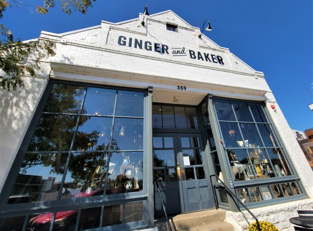 ginger and baker coffee bar entrance